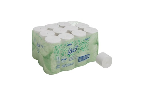 Kimberly-Clark 4007,SCOTT Toilet Tissue Rolls - Coreless White