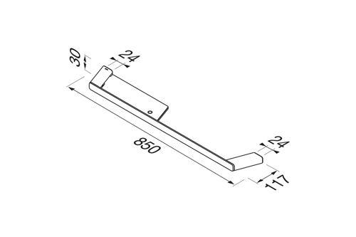 Geesa SHIFT STAINLESS STEEL Towel Rail
