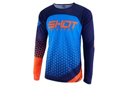 Shot Jersey Delta Blue Neon Orange