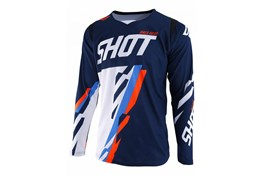 Shot jersey Score Blue Neon Orange