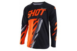 Shot Jersey Score Black Neon Orange