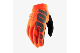 100% Brisker Glove Fluo Orange/Black