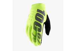100% Brisker Gloves Fluo Yellow