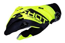 Shot Devo Alert Gloves Yellow