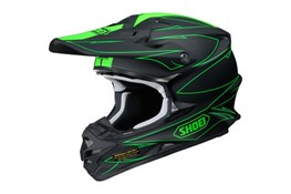 Shoei VF-X Helmet Fluo Green Maat S
