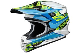 Shoei VF-X Helmet Camo Blue