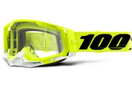 100% RACECRAFT 2 YELLOW CLEAR LENS GOGGL