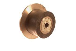 Broekema HS Rol staal met rubber loopvlak.