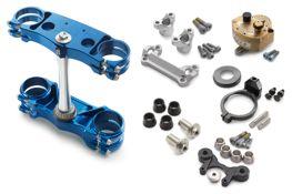 Factory triple clamp/-steering damper ki