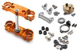 Factory triple clamp/steering damper kit