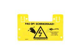 Waarschuwingsbordje nederland