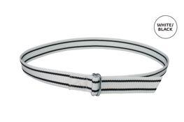 Halsband met ovalen schalm - wit/zwart