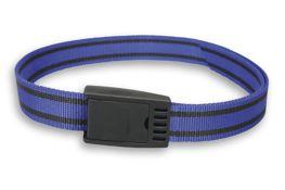 Halsband met gesp zware kw - blauw/zwart