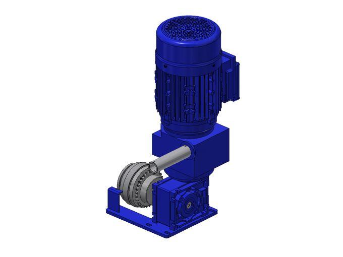 Complete set elektromotor 230V 1fase, snelheidsregeling en magneetkoppeling