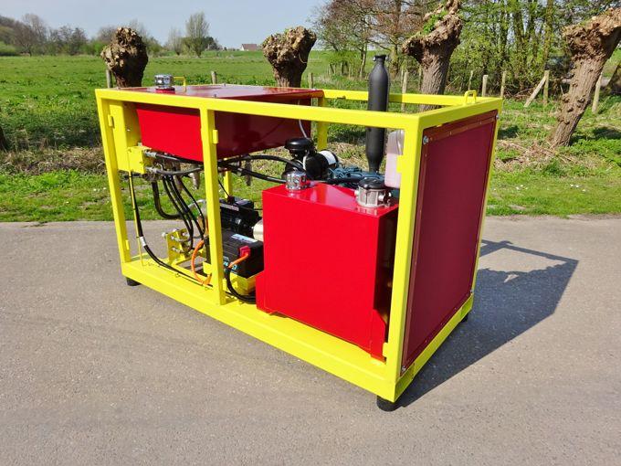 Diesel Aangedreven Pompset - Hydra-Cell G25X 70l/min~70bar (Kubota- V1505)