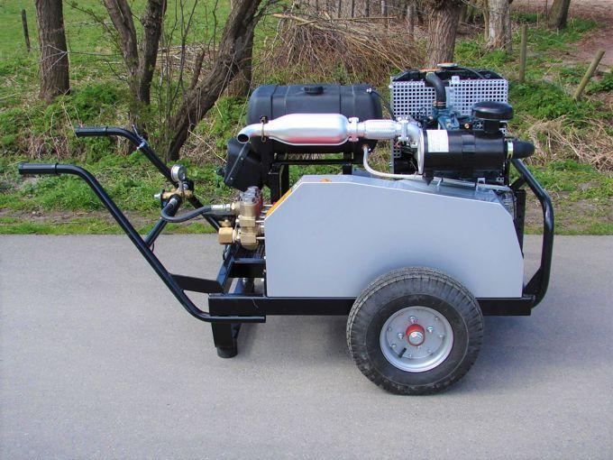 Mobiele Diesel Aangedreven Pompset - Speck P45 Plunjerpomp 42l/min~200bar (Kubota- V1505)