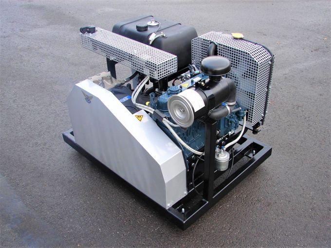 Diesel Aangedreven Pompset - Pratissoli plunjerpomp KF28 (kubota V1505)