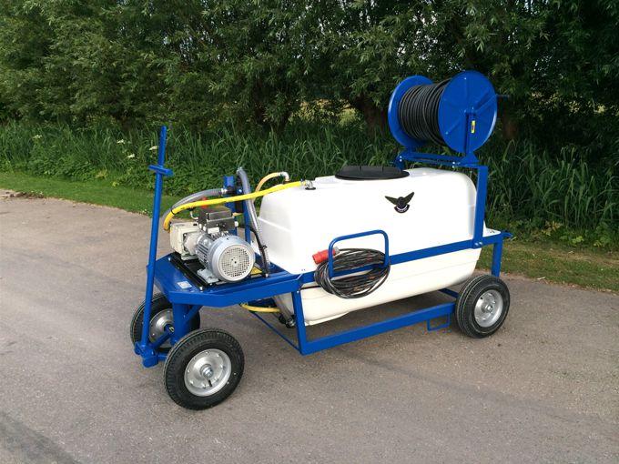 Spuitwagen 600T - Plunjerpomp P63 42l/min~50bar - Handhaspel 450 vast