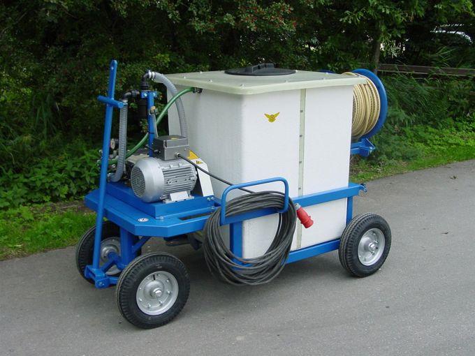 Spuitwagen 600K - Plunjerpomp P63 42l/min~50bar - Handhaspel 300 vast