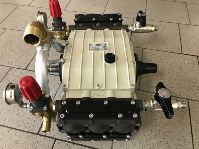Imovilli MP246 Plunjerpomp 232 l/min~80bar incl. drukregelaars en afsluiters